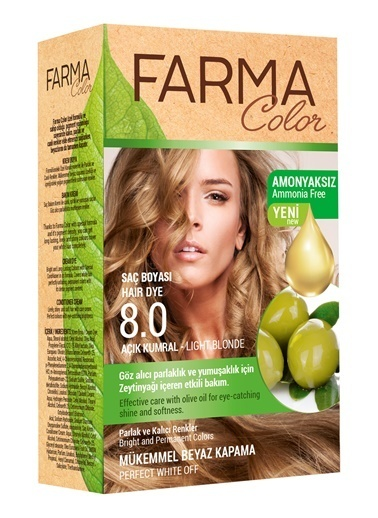 Farmasi Farmacolor Saç Boyası 8.0 Açık Kumral Renksiz